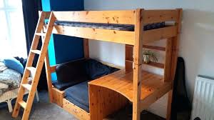 White High Sleeper Bed Frame High Sleeper With Sofa And Desk High Sleeper Bed With Pull Out