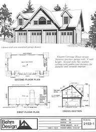 Four Car Garage House Plans 4 Car Carriage House Garage Plan 2152 1 By Behm Design 48 X 24