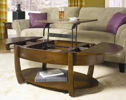 Lower Coffee Table by Round Lift Top Cocktail Table With Lower Shelf And Drawer By