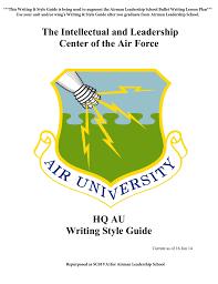 au writing u0026 style guide