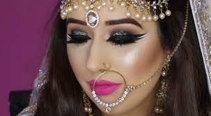 real bride nikaah asian bridal makeup bold eyes and bright pink lips arabic makeup you