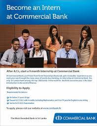 sri lankan l internship in commercial bank sri lanka vacancies top