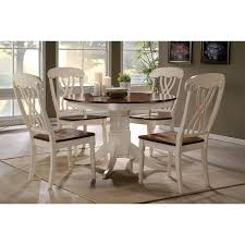 hillsdale pine island 5 piece round dining set with wheat back