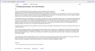 Flag Craigslist Post Couple Turns To Craigslist To Find U0027sponsors U0027 For Wedding Slr Lounge