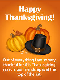 thankful for a friend thanksgiving card thanksgiving is