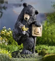 solar with bee garden statue garden statues