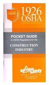 1926 osha construction pocket guide inc national safety