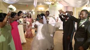 a grand entrance of african nigerian newlyweds toronto african