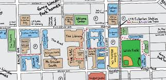 depaul map illustrated map of the month helps freshmen navigate the