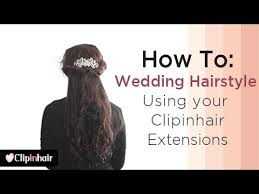 temporary hair extensions for wedding wedding hairstyle using clip in hair extensions by clipinhair