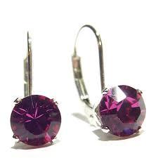 are leverback earrings for pierced ears buy drop earrings made with fuchsia teardrop swarovski elements