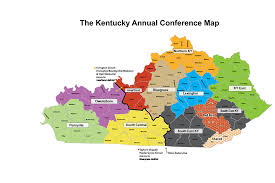 kentucky map kentucky conference ky conference map by districts
