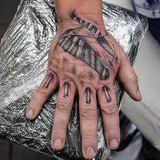 hands skin rip tattoo designs on men imagens pinterest rip