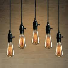 Light Bulbs For Pendant Lights Ce Pendant Wire Lamp Retro Vintage Industrial Edison Hanging Light