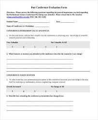 meeting feedback form template 7 conference evaluation form