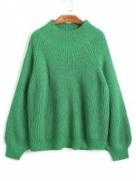 green sweaters lantern sleeve pullover mock neck sweater green sweaters one size