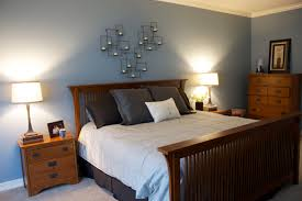 brown and light blue bedroom bedroom simple and neat blue floral sheet for black wooden canopy