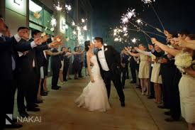 chicago westin north shore wedding photos sparkler exit