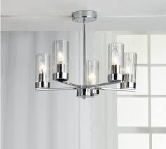 buy heart of house wallis 5 light glass u0026 chrome ceiling light at