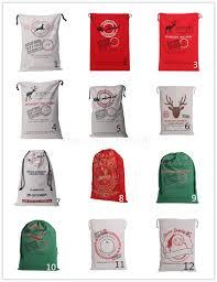 santa bag christmas gift bags 20pcs lot large 50 70cm canvas santa