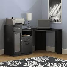 furniture black computer corner desk with storage and also white