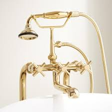 Polished Brass Bathtub Faucets Contemporary Freestanding Tub Faucet Supplies U0026 Valves Cross