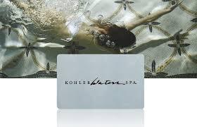 spa gift cards kohler waters spa gift card kohler at home