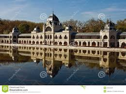 building of ice rink in budapest stock image image 24522781