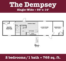 2 Bedroom Single Wide Floor Plans Single Wide Floor Plans You Got It Homes
