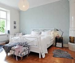 swedish bedroom focusing on one wall in bedroom swedish idea of using wallpaper