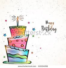 happy birthday card design hand drawn stock vector 610194098