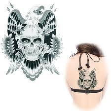 eagle temporary tattoos arrow pierced skull skeleton tattoos cross