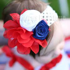 white and blue headband patriotic princess bowtique