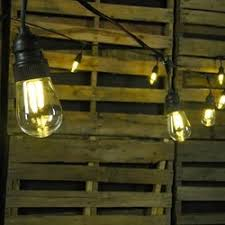 led edison string lights commercial led filament edison string lights 10 amber bulbs black