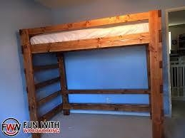 Free Twin Loft Bed Plans by Fun With Woodworking 2016
