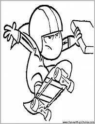 kick buttowski coloring pages aecost net aecost net