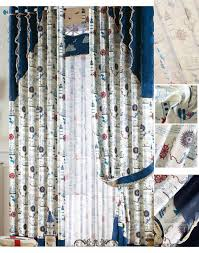 room window curtains in dreamy style for nautical children