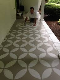 brilliant decorative floor painting ideas laying a pebble patio