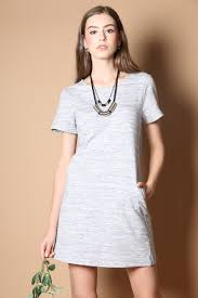 nadia pocket casual dress in light blue