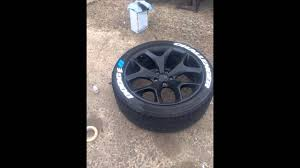 Dodge Challenger Tire Size - customizing dodge challenger tires youtube