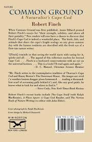common ground a naturalist u0027s cape cod robert finch amanda