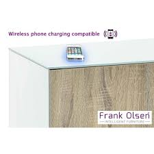 frank olsen intel1500wht oak white 1500 tv cabinet oak doors