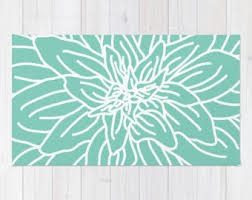 Flower Area Rugs by Coral Abstract Flower Area Rug Modern Flower Rug Coral And
