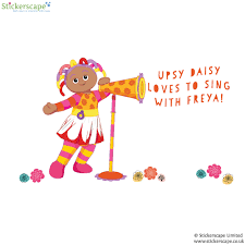 personalised upsy daisy with megaphone stickerscape