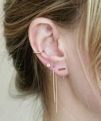ear piercing hoop 40 tiny and surprising ear piercings to try in 2017 ear piercing