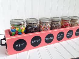 toppings bar ice cream sundae topping party bar mason jar wood planter box