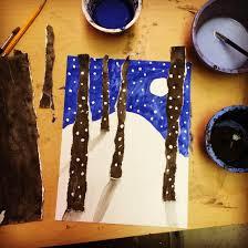 torn winter tree art art projects for kids