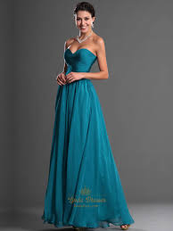 teal sweetheart strapless chiffon bridesmaid dresses with ruched