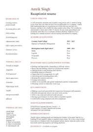 cover letter for a receptionist icoverorguk