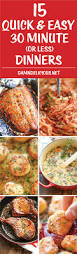 Quick Easy Comfort Food Recipes 15 Quick And Easy 30 Minute Dinners Damn Delicious